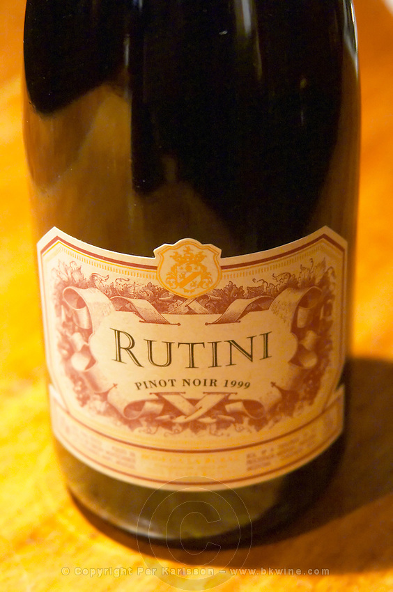 Bottle of Rutini Pinot Noir 1999, Bodega La Rural, Maipu, Mendoza The Rosa Negra Restaurant, The Black Rose, Buenos Aires Argentina, South America San Felipe, La Rural Vinedos y Bodegas Winery
