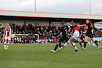 Vivianne Miedema of Arsenal scores the sixth goal for her team during Arsenal Women vs Bristol City Women, Barclays FA Women's Super League Football at Meadow Park on 1st December 2019