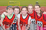 RELAY: The Rock Street/Caherslee u14 relay team at the Community Games County Finals at An Riocht Track, Castleisland, last Saturday. L-r: Hannah Ryan, Katie Liston, Louise OConnor, Laura Lynch and Hazel Carmody.   .