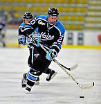 21 February 2009: University of Maine Black Bears' defenseman Jessica Bond, a Freshman from Manur, Quebec, in action against the University of Vermont Catamounts at Gutterson Fieldhouse in Burlington, Vermont. The Catamounts shut out the Black Bears 1-0. Mandatory Photo Credit: Ed Wolfstein Photo