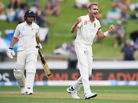 29th November 2019, Hamilton, New Zealand;  Stuart Broad appeals unsuccessfully for the wicket of Taylor during play on day 1 of the 2nd international cricket test match between New Zealand and England at Seddon Park, Hamilton, New Zealand. Friday 29 November 2019