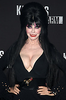 BUENA PARK, CA - SEPTEMBER 29: Elvira, at Knott's Scary Farm & Instagram's Celebrity Night at Knott's Berry Farm in Buena Park, California on September 29, 2017. Credit: Faye Sadou/MediaPunch
