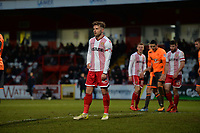 Matthew Godden of Stevenage during Stevenage vs Reading, Emirates FA Cup Football at the Lamex Stadium on 6th January 2018