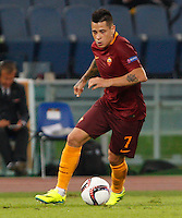 Calcio, Europa League: Roma vs Astra Giurgiu. Roma, stadio Olimpico, 29 settembre 2016.<br /> Roma&rsquo;s Juan Iturbe in action during the Europa League Group E soccer match between Roma and Astra Giurgiu at Rome's Olympic stadium, 29 September 2016. Roma won 4-0.<br /> UPDATE IMAGES PRESS/Riccardo De Luca