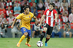 Athletic de Bilbao's Benat Etxebarria (r) and FC Barcelona's Adriano Correia during Supercup of Spain 1st match.August 14,2015. (ALTERPHOTOS/Acero)