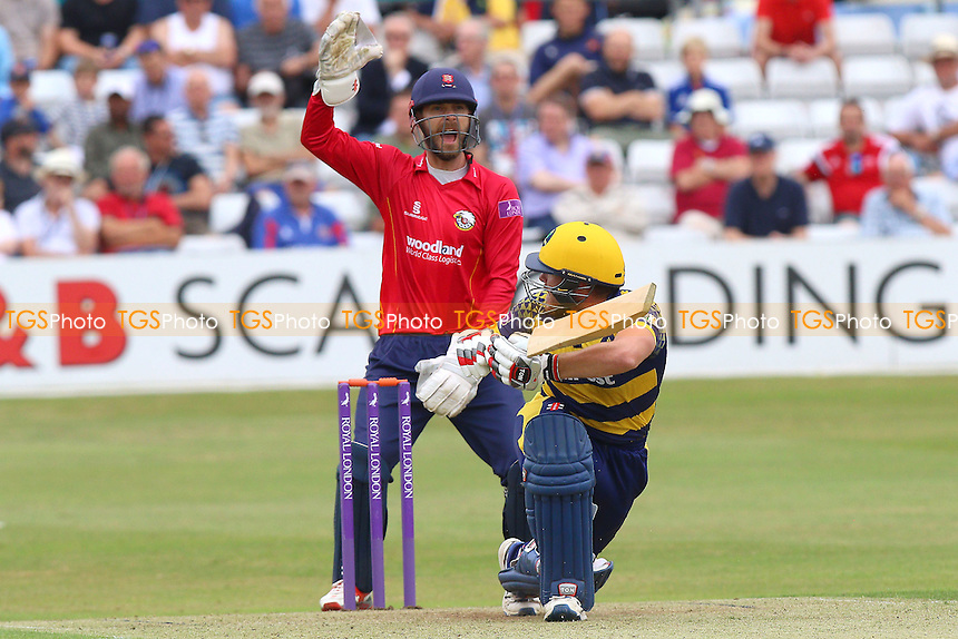 James Foster of Essex with an appeal for the wicket of Will Bragg during Essex Eagles vs Glamorgan, Royal London One-Day Cup Cricket at the Essex County Ground on 26th July 2016