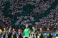 ATENÇÃO EDITOR: FOTO EMBARGADA PARA VEÍCULOS INTERNACIONAIS - SÃO PAULO, SP, 11 DE DEZEMBRO DE 2012 - JOGO DE DESPEDIDA DO GOLEIRO MARCOS - Marcos antes dapartida de despedida do goleiro Marcos, entre o time do Palmeiras de 1999 Campeão da Libertadores contra a Seleção Brasileira de 2002 Campeã do Mundo. A partida foi disputada na noite desta terça feira (11) no Estádio do Pacaembu em São Paulo. FOTO: LEVI BIANCO - BRAZIL PHOTO PRESS