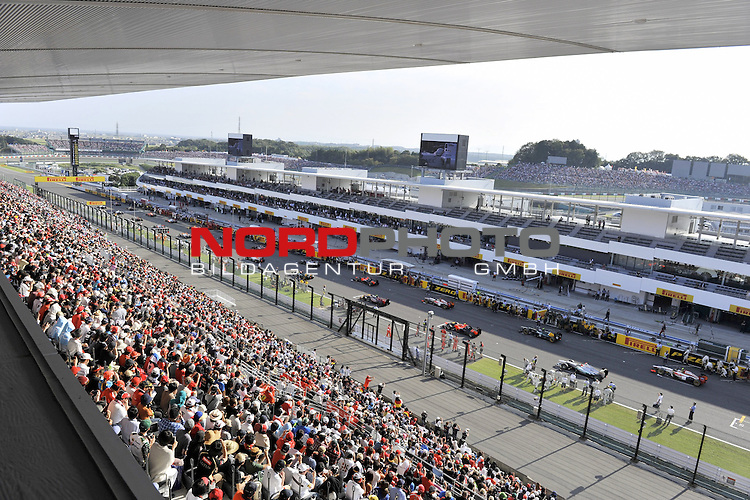 04. - 07.10.2012, Suzuka International Racing Course, Suzuka, JPN, F1, Grosser Preis von Japan, Suzuka, im Bild F1 Race Starting Grid<br />  Foto &copy; nph / Mathis