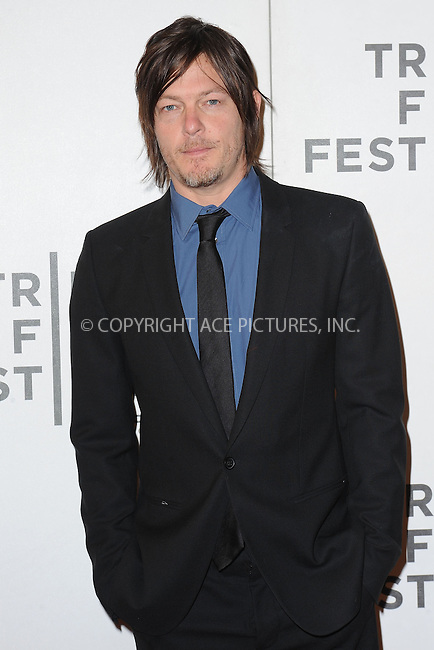 WWW.ACEPIXS.COM . . . . . .April 20, 2013...New York City....Norman Reedus attends the World Premiere of Sunlight Jr. at the Tribeca Film Festival  on April 20, 2013 in New York City.....Please byline: KRISTIN CALLAHAN - WWW.ACEPIXS.COM.. . . . . . ..Ace Pictures, Inc: ..tel: (212) 243 8787 or (646) 769 0430..e-mail: info@acepixs.com..web: http://www.acepixs.com .