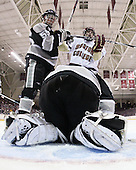 Daniel New (Providence - 55), Paul Carey (BC - 22), Alex Beaudry (Providence - 35) - The Boston College Eagles defeated the Providence College Friars 4-1 on Tuesday, January 12, 2010, at Conte Forum in Chestnut Hill, Massachusetts.