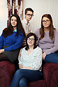 Siobhan McLaughlin (centre) sits with her 3 out her 4 children, Rebecca, Billy and Lisa. Siobhan is bringing a case to the supreme court about the rights of unmarried widows. Photo/Paul McErlane