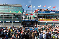 March 15, 2015: The podium at the 2015 Australian Formula One Grand Prix at Albert Park, Melbourne, Australia. Photo Sydney Low
