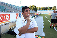 Cary, North Carolina  - Saturday September 09, 2017: Edgar Veliz prior to a regular season National Women's Soccer League (NWSL) match between the North Carolina Courage and the Houston Dash at Sahlen's Stadium at WakeMed Soccer Park. The Courage won the game 1-0.