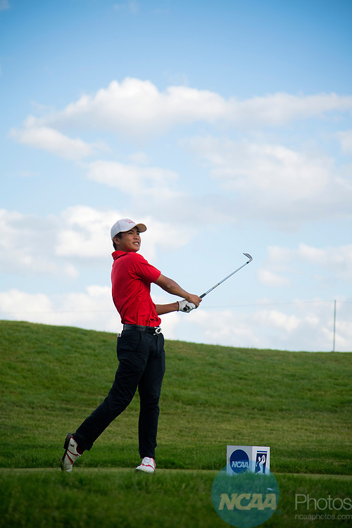 SUGAR GROVE, IL - MAY 29: Shintaro Ban of UNLV tees off during the Division I Men's Golf Individual Championship held at Rich Harvest Farms on May 29, 2017 in Sugar Grove, Illinois. (Photo by Jamie Schwaberow/NCAA Photos via Getty Images)