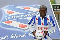 VOETBAL: HEERENVEEN: Abe Lenstra Stadion, 13-06-2012, Presentatie nieuwe speler SC Heerenveen, Matthew Amoah, 31-jarige spits, Ghanees international, ©foto Martin de Jong