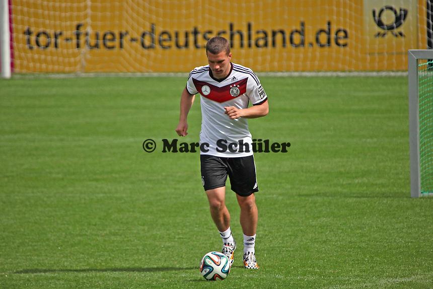 Lukas Podolski - Training der Deutschen Nationalmannschaft  zur WM-Vorbereitung in St. Martin