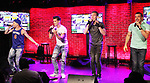 - The Boy Band Project - Travis Nesbitt - Jesse Corbin - Bentley Black - Kevin Raponey - performed on July 10, 2018 at The Iridium, New York City, New York - a benefit concert for Broadway Cares/Equity Fights Aids featuring the music of NSYNC, Backstreet Boys, Hanson, New Kids on the Block (Photo by Sue Coflin/Max Photos)