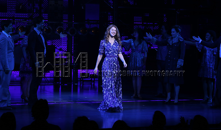Melissa Benoit during her Opening Night debut bows in 'Beautiful-The Carole King Musical' at the Stephen Sondheim on June 12, 2018 in New York City.