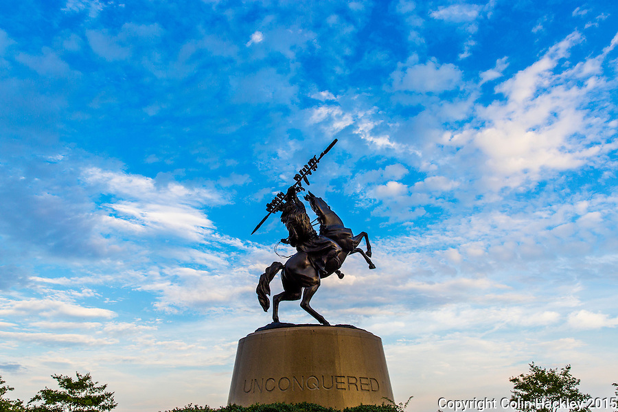 TALLAHASSEE, FLA. 8/4/15-The Unconquered Statue outside Doak Campbell Stadium on the campus of Florida State University in Tallahassee, Fla. <br /><br />COLIN HACKLEY PHOTO