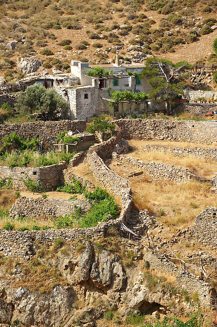 Old farm house of  Syros Island [ ????? ] , Greek Cyclades Islands