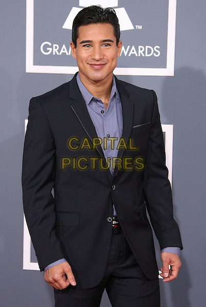Mario Lopez.The 54th Annual GRAMMY Awards held at the Staples Center, Los Angeles, California, USA..February 12th, 2012.half length suit blue shirt black .CAP/ADM.©AdMedia/Capital Pictures.