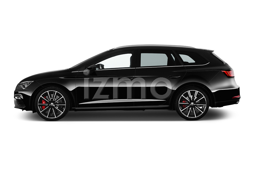 Car Driver side profile view of a 2017 Seat Leon-ST-Cupra - 5 Door Wagon Side View