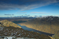 Ben Vorlich and Loch Sloy from the summit of Ben Vane, Loch Lomond and The Trossachs National Park<br /> <br /> Copyright www.scottishhorizons.co.uk/Keith Fergus 2011 All Rights Reserved