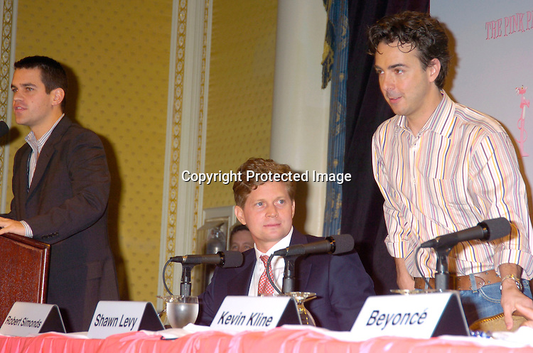 the Producer Bob Simonds and director Shawn Levy..at the Pink Panther start of Production Press Conference on May 7, 2004 at the Waldorf Astoria Hotel.                    Photo by Robin Platzer, Twin Images