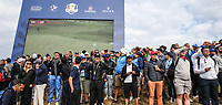 Gallery at the 7th during Friday's Fourballs, at the Ryder Cup, Le Golf National, Îls-de-France, France. 28/09/2018.<br /> Picture David Lloyd / Golffile.ie<br /> <br /> All photo usage must carry mandatory copyright credit (© Golffile | David Lloyd)