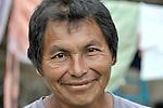 A man in Santa Elena, in Guatemala's Peten region.