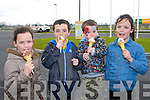 A Nice ice-cream for Katelynn Brosnan, Luke Roche, James Roche and Jennifer Brosnan at the John Mitchel's GAA Club Fun Day on Saturday