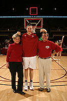 STANFORD, CA - JANUARY 10:  Forward Sarah Boothe #42 of the Stanford Cardinal and her locker sponsors during Stanford's 102-53 win against the Washington State Cougars on January 10, 2009 at Maples Pavilion in Stanford, California.