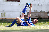 Injury concern for Joey May of Redbridge during Redbridge vs Saffron Walden Town, Essex Senior League Football at Oakside Stadium on 4th August 2018