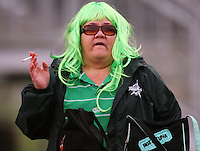 A Manawatu fan during the Air NZ Cup preseason match between Manawatu Turbos and Wellington Lions at FMG Stadium, Palmerston North, New Zealand on Friday, 17 July 2009. Photo: Dave Lintott / lintottphoto.co.nz