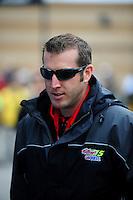 Oct. 3, 2009; Kansas City, KS, USA; Nascar Sprint Cup Series crew chief Alan Gustafson during practice for the Price Chopper 400 at Kansas Speedway. Mandatory Credit: Mark J. Rebilas-