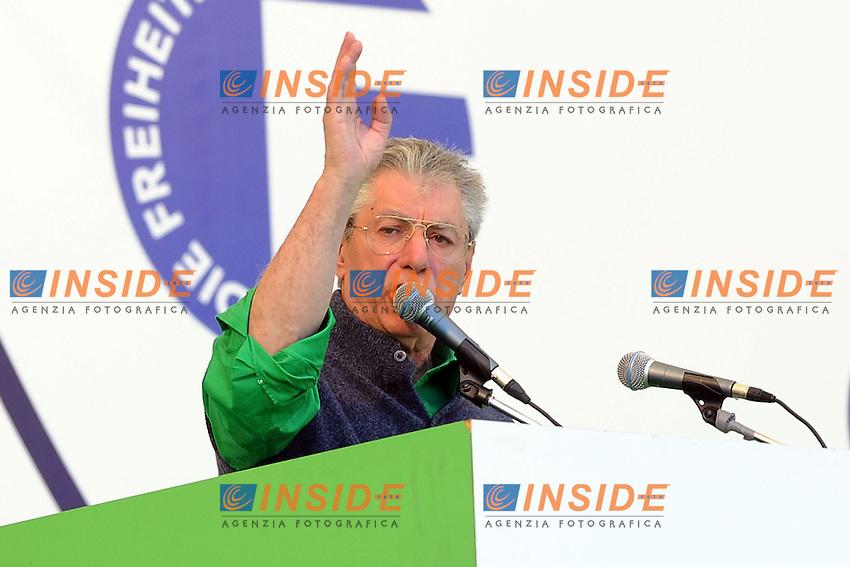 Umberto Bossi <br /> Pontida (Bg) 04/05/2014 <br /> raduno Lega Nord a Pontida - Lega Nord party Rally<br /> foto Andrea Ninni/Image/Insidefoto
