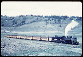 &quot;53-7 passenger train on near side of Los Pinos curve, Colorado.&quot;<br /> C&amp;TS (D&amp;RGW)  Los Pinos, CO  Taken by LeMassena, Robert A. - 6/1975