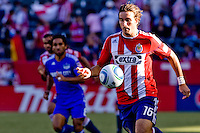 CD Chivas USA forward Alan Gordon runs into the light. The Kansas City Wizards defeated CD Chivas USA 2-0 at Home Depot Center stadium in Carson, California on Sunday September 19, 2010.