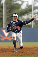 UVa's Sean Doolittle baseball player for the Virginia cavaliers at the University of Virginia. Photo/Andrew Shurtleff