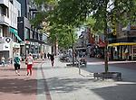Pedestrianised shopping street Sarisgang, Dordrecht, Netherlands