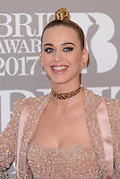 www.acepixs.com<br /> <br /> February 22 2017, London<br /> <br /> Katy Perry arriving at The BRIT Awards 2017 at The O2 Arena on February 22, 2017 in London, England.<br /> <br /> By Line: Famous/ACE Pictures<br /> <br /> <br /> ACE Pictures Inc<br /> Tel: 6467670430<br /> Email: info@acepixs.com<br /> www.acepixs.com