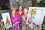Launching Tralee Art Group Summer Exhibiton starts July 3rd at Kerry County Library from Left Marion Carroll, Rosemarie Daly and Mary Cotter.