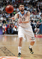 Real Madrid's Sergio Llull during Euroleague 2012/2013 match.January 31,2013. (ALTERPHOTOS/Acero)