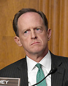 "United States Senator Pat Toomey (Republican of Pennsylvania) listens during the US Senate Committee on Finance ""Hearing to Consider the Graham-Cassidy-Heller-Johnson Proposal"" on the repeal and replace of the Affordable Care Act (ACA) also known as ""ObamaCare"" in Washington, DC on Monday, September 25, 2017.<br /> Credit: Ron Sachs / CNP"