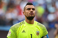 Seattle, WA - Tuesday June 14, 2016: Sergio Romero during a Copa America Centenario Group D match between Argentina (ARG) and Bolivia (BOL) at CenturyLink Field.