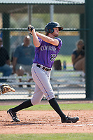 Colorado Rockies outfielder Aubrey McCarty (86) during a Minor League Spring Training game against the Chicago Cubs at Sloan Park on March 27, 2018 in Mesa, Arizona. (Zachary Lucy/Four Seam Images)