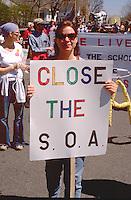 Protesting the School of Americas age 25 Heart of Beast Festival.  Minneapolis Minnesota USA