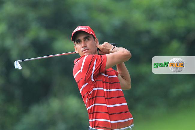 Raphael Cabrera-Bello (ESP) on the 16th tee on Day 1 of the Maybank Malaysian Open 2012 at Kuala Lumpur Golf and Country Club, Kuala Lumpur, Malaysia...(Photo Jenny Matthews/www.golffile.ie)