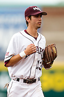 Kevin Medrano (13) of the Missouri State Bears during a game against the Bradley Braves on May 13, 2011 at Hammons Field in Springfield, Missouri.  Photo By David Welker/Four Seam Images