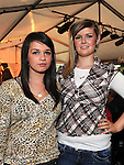 Charlene Kearney and Aoife Kavanagh pictured at the Dunleer Rose competition in Shearmans. Photo: www.colinbellphotos.com